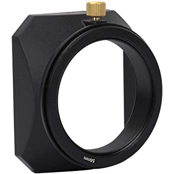55MM Serounder Camera Lens Hood Square Lens Hood Shade Accessory for All Kinds of Cameras and Mirrorless Camera Lens Filter