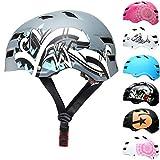 SkullCap® Casco de Skate y BMX - Bicicleta Y Scooter Eléctrico, Diseño: Graffiti, Talla: M (55-58 cm)
