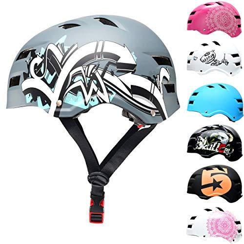 Skullcap® BMX & Skaterhelm - Fahrradhelm - für Jugendliche & Erwachsene von 14-39 Jahren, Graffiti, M (55 – 58 cm)
