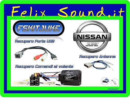 Nissan Juke kit installazione Autoradio, Recupero Comandi al volante, USB, Antenna