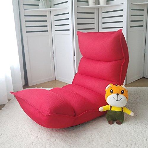 Fauteuils inclinables Fauteuils et Chaises Tatami Canapé Paresseux Tatami Simple Petit Canapé Chaise Pliante de Style Japonais Lit Chaise Dortoir Balcon Déjeuner Pause Chaise (Color : Pink)