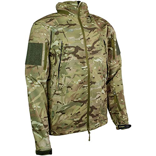 HIGHLANDER Commando Veste en Softshell pour Femme – Multi Terrain Motif Camouflage (Taille L)