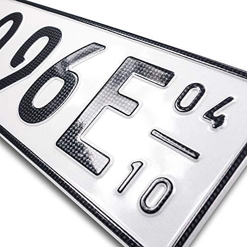 Kfz-Kennzeichen Saison mit Eurofeld 520x110mm aus Aluminium reflektierend