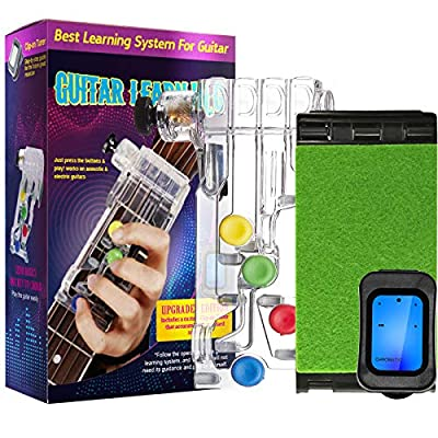 Guitar Beginner Accessories, Guitar Learning Tools with Chromatic Tuner & Guitar String Cleaner for Adults & Children, Trainer Beginners