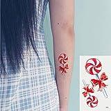 Oottati 2 Hojas Pequeño Lindo Tatuaje Temporal Tattoo Chupete