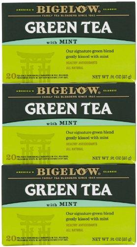 Bigelow Green Tea w/ Mint Tea Bags - 20 ct - 3 pk