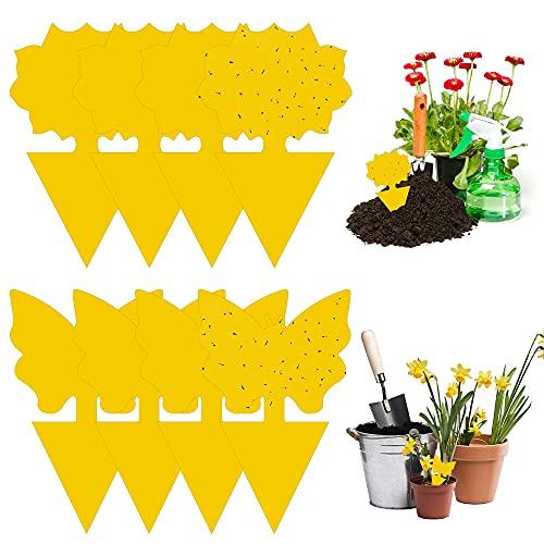 solawill Trampas de Mosca, 48 Pcs Atrapa Mosca Trampa Moscas Colgando y Placas Amarillas Enchufables Trampas de Insectos de Doble Cara Trampas Pegajosas para Insectos Voladores Trampas para Jardín