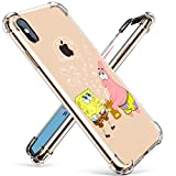 coralogo for iphone xs/x tpu case, 3d cute cartoon funny stylish designer character protective