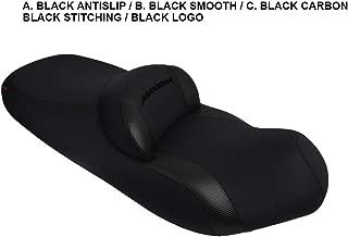 SYM Maxsym 400i/600i seat Cover Black-Black Carbon-Black Stitching