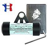 Ugozen Porte Vignette Assurance Moto + Pochette Carte Grise, Accessoires Moto Support De Vignette...