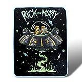 Rick and Morty Fresh Start Fleece Throw Blanket 45 x 60 Inches