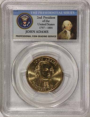 2007 P John Adams Presidential Series KM# 402 PCGS First Day Of Issue Position B Dollar Brilliant Uncirculated