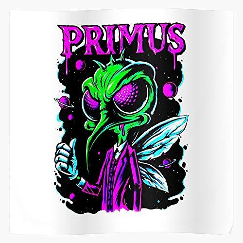 Primus Selling Uduk International Best Logo Nasi Band Trending Heavy Alternatif Popular Metal Music Regalo para la decoración del hogar Wall Art Print Poster 11.7 x 16.5 inch