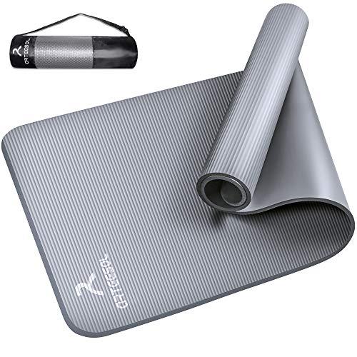 arteesol Yogamatte Non-Slip NBR Material Gymnastikmatte 185cm * 80cm * 1/1,5cm Fitnessmatte für Yoga Pilates Fitness Workout & Gymnastik Trainingsmatte (Light Gray, 185x80x1cm)
