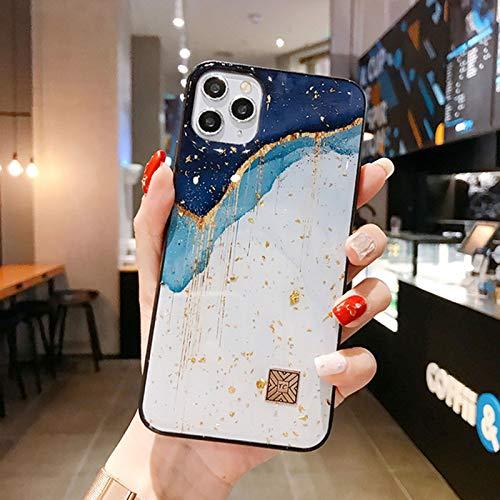 QY-Youth Cajas de teléfono de la lámina de Oro de mármol Elegante para iPhone 12 11 Pro MAX XR x 8 7 6 Plus Glitter Soft Silicone Funda para iPhone XS MAX SE 2020,C,iPhone 12 Pro