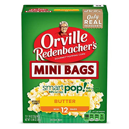 Orville Redenbacher's SmartPop! Butter Popcorn, 1.16 Ounce Single Serve Bag (set of 6 boxes)