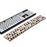 Keyboard Wrist Rest Pad, Washable Keyboard Mouse Wrist Support Pad Bean Bag for Carpal Tunnel, Office Workers, Massage Ergobeads (Triangle)