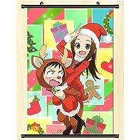 コスプレウォールスクロール壁画ポスターウォールハングポスターアニメーション周辺ファンギフトからかい上手の高木さん 50x75cm