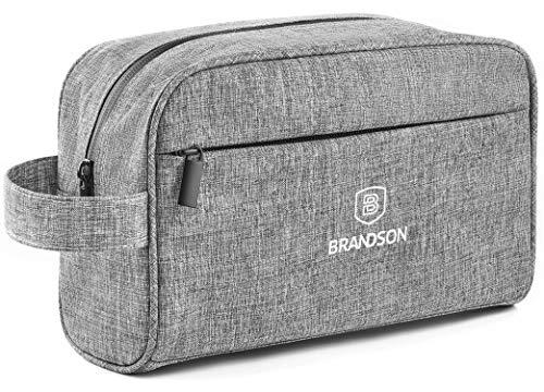 BRANDSON Kulturbeutel, Wasserabweisend, Geräumig & Robust - Kulturtasche für Damen und Herren mit Wasserdichtem Reißverschluss (Grau)