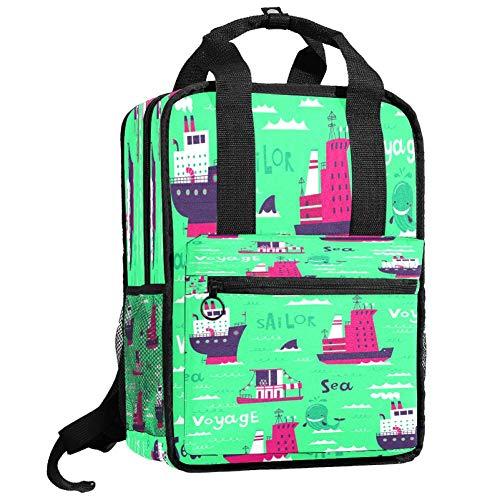 Backpacks Shoulders Bag sea voyage sailor Backpack traveling middle school high school
