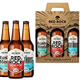 Red Rock Brewery Traditional British Ale Gift Set - Three English Beers In A Presentation Box (Red Rock 4.2% Lighthouse IPA 3.9% Rushy Mede 4.4%)