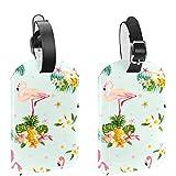 ATOMO Bolsas de equipaje de cuero Etiquetas Flamingo Bird Y Flores Tropicales Depositphotos_9