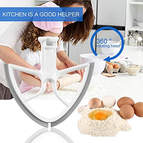 Beater Blade for 5-Quart Kitchen Aid Bowl Lift Mixer Baking Tools Kitchen Mixer Accessories with Square Shape - White
