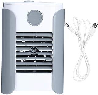 Ventilador de circulación de Aire Ventilador de humidificación portátil 3 en 1 Enfriador de Aire Radio de música Mini Aire Acondicionado Inicio Alimentado por USB Gris