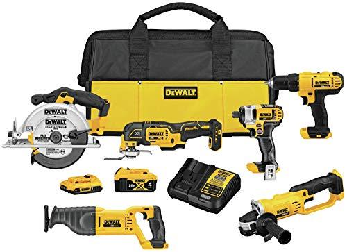 DEWALT 20V MAX Cordless Drill Combo Kit, 6-Tool (DCK661D1M1)