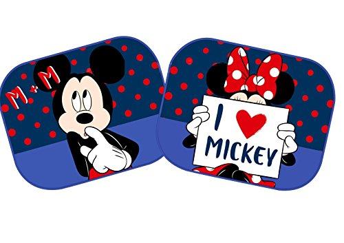 EURASIA 27029 Coppia Tendine Parasole Laterali Minnie&Mickey in Love universali 44x35cm