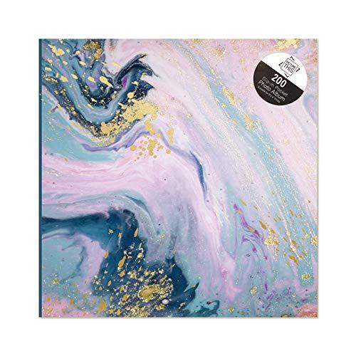 Tallon Abstrakt marmor virvel 6 x 4 fotoalbum PM slip in rymmer 200 foton