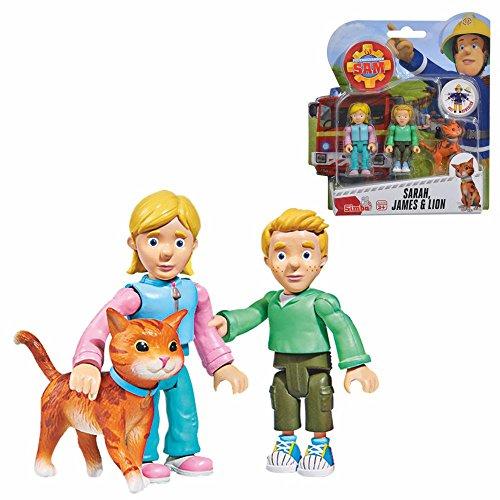 Feuerwehrmann Sam Sarah, James & Lion Spiel Figuren Set | Simba Toys