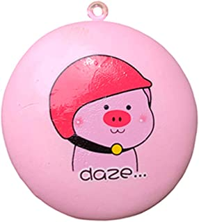 Loprt Squishies Squishy Toys,Slow Rising Scent for Kids Party Toys Stress Reliever Toy,Cartoon Pig Bread Pendant with Chain