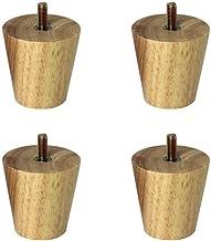 DX Set van 4 houten poten voor tafels, meubelpoten van hout, poten voor banken van eiken, stoelpoten, stoelpoten, stoelpot...