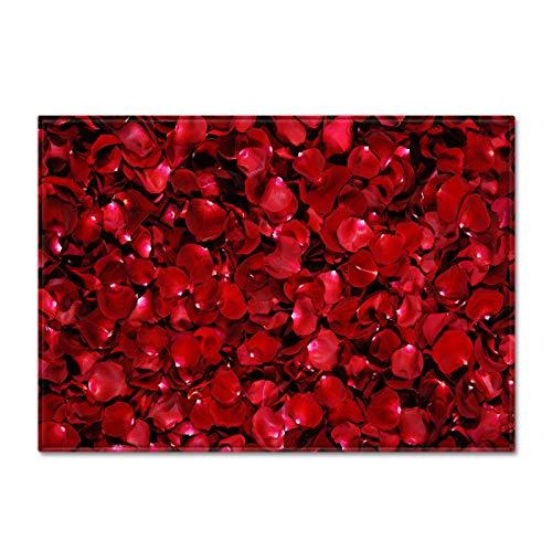 Oukeep Alfombra De Rosas 3D Alfombra Impermeable Antideslizante Engrosada Adecuada para Alfombras Grandes En Hoteles, Centros Comerciales Y Parques Infantiles Estilo Europeo