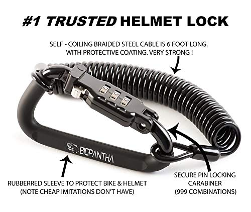 Our #6 Pick is the BigPantha Motorcycle Helmet Lock & Cable