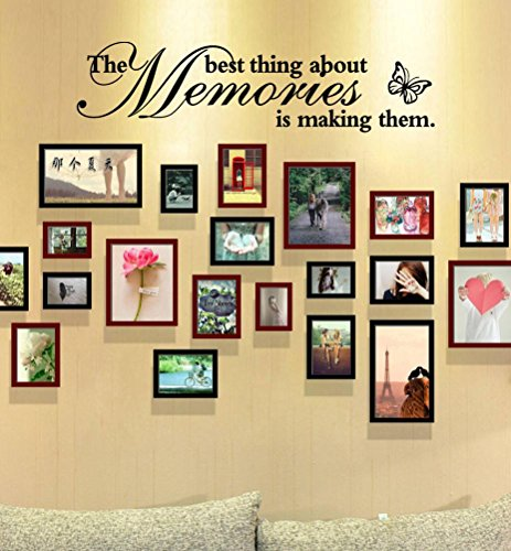 """Hot Sale!!! Wall Mural,Jushye New Removable Art Vinyl Wall Sticker Decals For Living Room Bedroom TV Background """"The Best Thing About Memories is Making Them"""" (A)"""