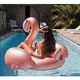 Pool Float Party Inflable Balsa Flamingo Ride On Beach Anillo de natación Agua Juguetes Suministros para Adultos y Niños