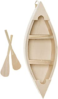 Darice Wood Canoe With Oars, 9 x 3 Inches