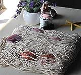 Biutee Dekoration Fischnetz mit Muscheln Maritime Deko Beach deko 150cm*200cm(WT) - 5