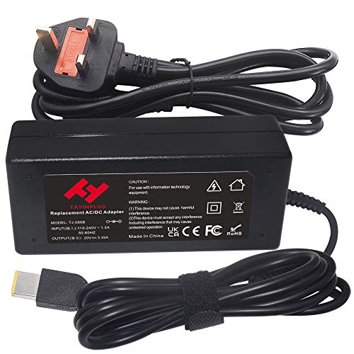 TAYINPLUS 20V 3.25A 65W Laptop charger for Lenovo Thinkpad X1Carbon (Gen2,3,4) Z50 Z70 G50 Adlx65nlc3a Adlx65ncc3a Adlx65ndc3a Notebook AC Power Adapter