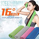 4 Packs Cooling Towel Ice Soft Breathable Towel Chilly Cool Towel for Neck, Microfiber Towel Instant Chill Cooling Cloth Cold Towel for Yoga,Sport,Workout,Running,Fitness & Other Activities