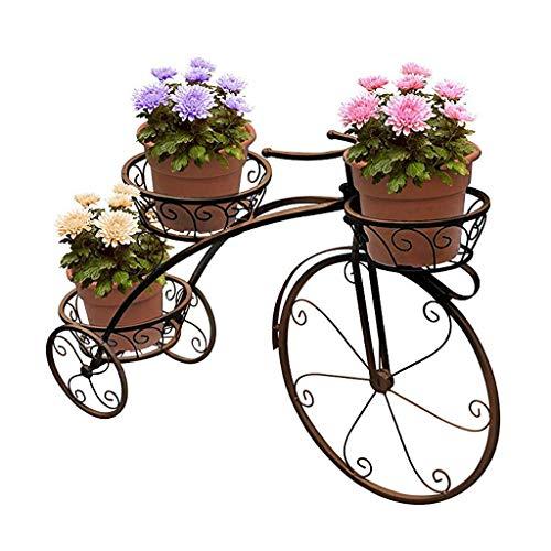 LBBGM Soporte para Plantas de Triciclo de Bicicleta - Soporte de Carro para macetas Soporte de Flores de Metal y Soporte para macetas Soporte de Plantas Moderno para Interiores y Exteriores