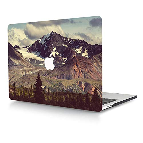 ACJYX Case for MacBook Air 13 inch 2017 2016 2015 2014 2013 2012 2011 2010 Release A1369 A1466 Plastic Protective Shell with Pattern Laptop Hard Cover for Old Version MacBook Air 13', Mountain Peak