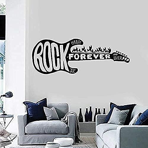 Etiqueta de la pared 3D Rock pared calcomanía guitarra eléctrica música vinilo...