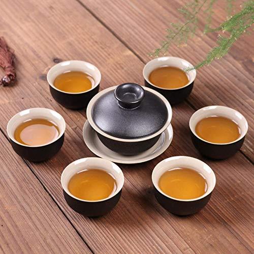 Chinese Black Crockery Ceramic teapot Kettles Tea Cups Porcelain kung fu Tea Set drinkware for Tea Ceremony-See Chart