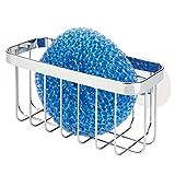 mDesign Organizador de fregadero con ventosas – Práctica cesta de rejilla...