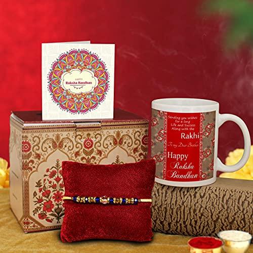 TIED RIBBONS Rakhi for Brother with Gifts Premium Rakhi and Coffee Mug