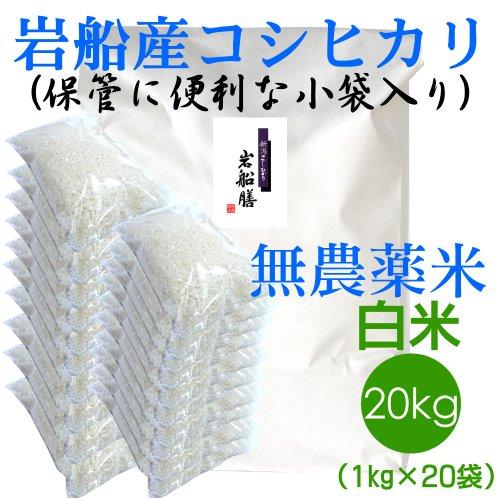 【おにぎりに最適!】新潟の米作り名人 田村さんのアイガモ無農薬米 白米20kg 無洗米