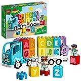 LEGO DUPLO Le camion des lettre,s Briques d'apprentissage des lettres, éducation préscolaire, Jouet pour tout-petits de 1,5 ans, 87 pièces, 10915